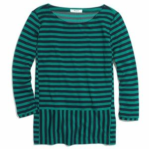 Madewell Stripturn Ponte Top green small